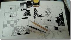 原稿と画材道具